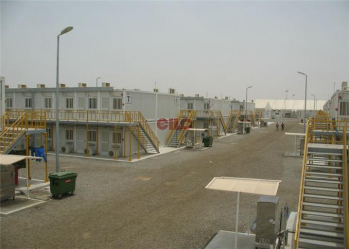 Three Storey Modular Construction Containers Durable For Oil Gas Camping