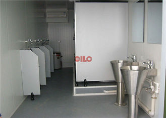 Twenty Feet Size Ablution Containers White Portable With Toilets And Shower