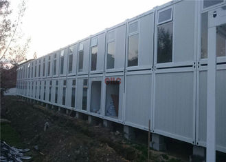 Fire Proof Container Home Construction Heat - Resistant With 2 Layers Rock Wool Panel
