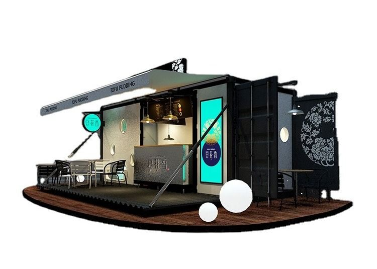 Movable 20GP Shipping Container Exhibition For Show Stage