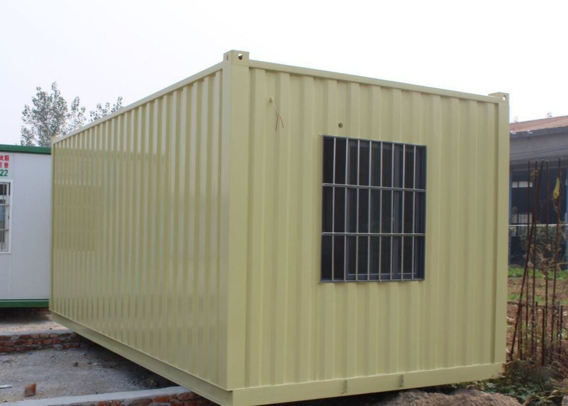 Transpotation 20ft Yellow Prefab Storage Container House