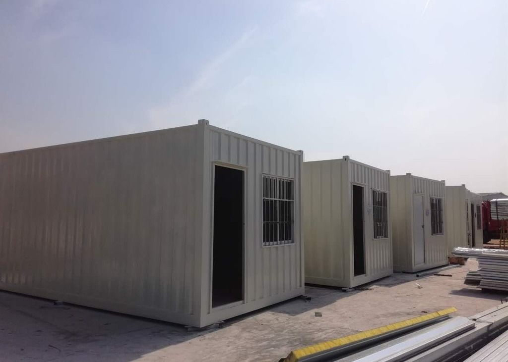 Galvanized Steel Frame White Painted 20 Gp Prefab Office Container