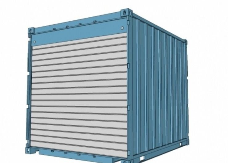 Insulation 10GP Storage Shipping Container Locker Room