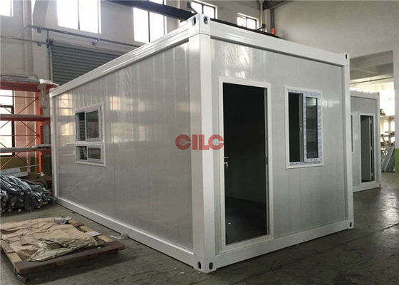 China PU Panel Flat Pack Prefab Container Homes Easy Assemble Energy Saving factory