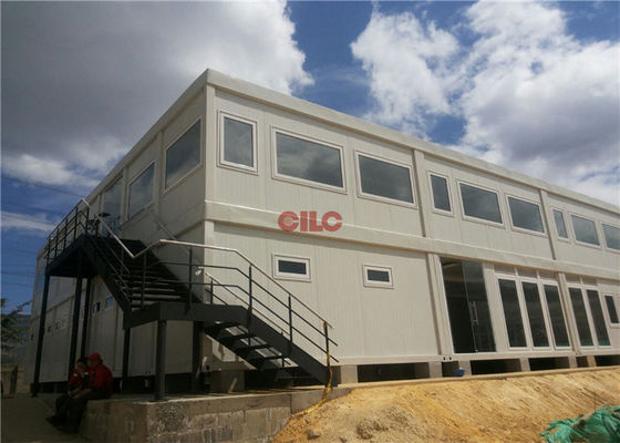 China Mineral Wool Panel Mobile Office Containers 20ft Or 40ft With Conference Meeting Room factory